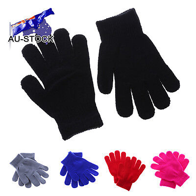 AU-STOCK Children Winter Knitted Warm Gloves Thicken Thermal Wool Gloves Mittens