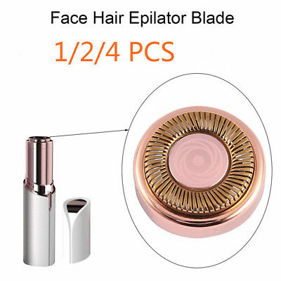 1/2/4pcs Depilator Lipstick Hair Remover Hypoallergenic Replacement Heads Blade