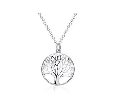 "925 Stamped Sterling Silver Tree Of Life Pendant Necklace Chain 18""  Uk Seller"