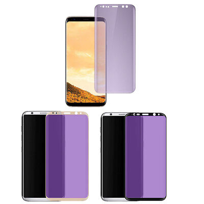 3D Curved Anti Blue UV Screen Protector Film Full Screen for Samsung S8  S8 Plus
