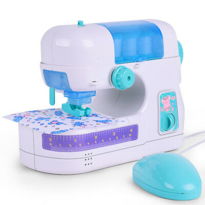 Simulation Small Electric Sewing Machine DIY Doll Clothes Maker Kids Play Toys