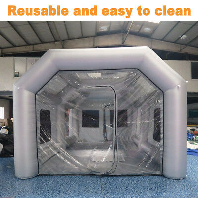 26x13x10 Ft Inflatable Spray Booth Tent Car Paint Painting + 950W Air Blower