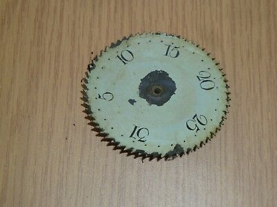 Antique Longcase Grandfather Clock Date Wheel 82mm across