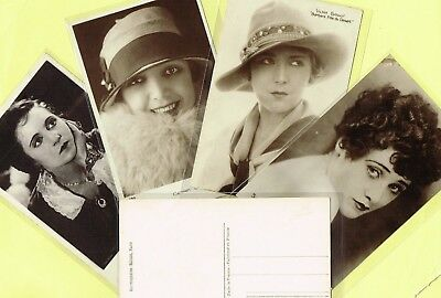 CINEMAGAZINE - 1920s Silent Film Star Postcards issued in France #391 to #540