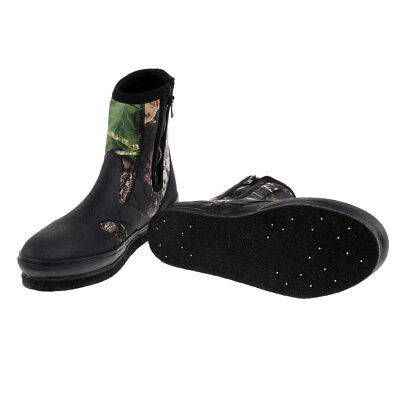 YONGYUE Fishing Boots Shoes Anti-Slip Spikes With Nails Waterproof US Size 7-11