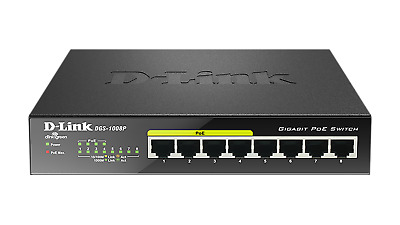 D-Link DGS-1008P 8-Port Gigabit 52W PoE Switch DGS-1008P/E