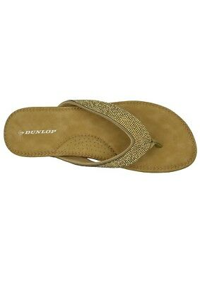 378bf9a0c365 Dunlop Flip Flops Toe Post Slip On Sandals Memory Foam Ladies UK Size 5