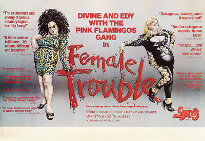 Female Trouble Movie Poster 24x36