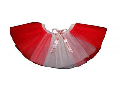 England Tutu Skirt Red White Football Rugby Celebrations St George World Cup