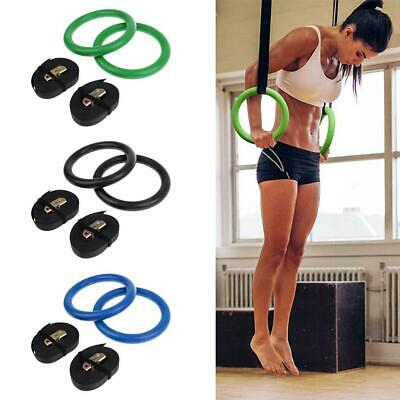 Gymnastic Training Strength Rings with Straps Home Gym Fitness Bodybuilding