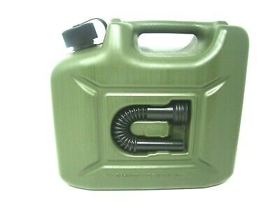 Jerry Fuel Can 10 Litre Ltr Green Plastic Diesel Gasoline Petrol Oil Kerosene