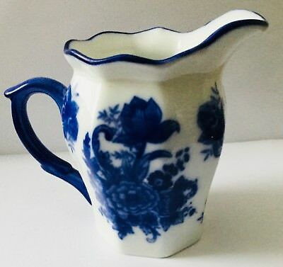 "Vintge Flow Blue Ironstone Creamer * Blue Handle  Great Shape 4"" High By 5"" Wide"