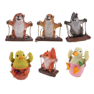 Garden Animal Statue Sculptures Resin Outdoor Decor Patio Lawn Yard Ornament