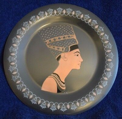 Egyptian Egypt Bust of Queen Nefertiti El Shami Copper Plate Hand Made
