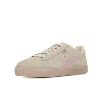 1e426f897085 Chaussures Baskets Puma femme Suede Classic Satin Wn's taille Rose Suède  Lacets