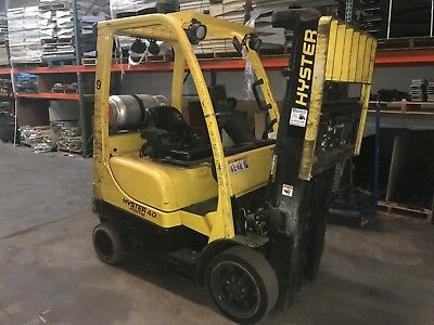 2013 Hyster S40FT Forklift 4000 LBS Capacity Propane Fuel