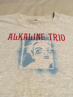 Vintage XL Alkaline Trio Shirt *Hand Spray Painted By The Band* FREE SHIP