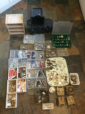 JOB LOT OF Clock / Watch Makers Parts Sold As Seen Please See Pictures