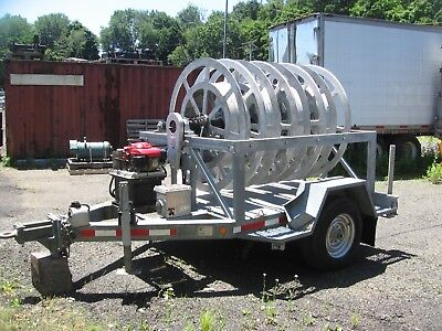 2002 Sauber Model 1561 4-Reel Hydraulic Substation Recovery trailer
