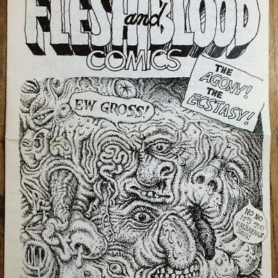 ROBERT CRUMB - Pointe D'Ironie #45: Flesh and Blood Comics - COLLECTOR