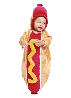plush hot dog bunting costume 0 6 months baby infant halloween funny outfit new