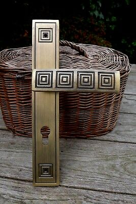 Solid Brass Decorative Large Door Handle with Decorative Cover Project 27-02