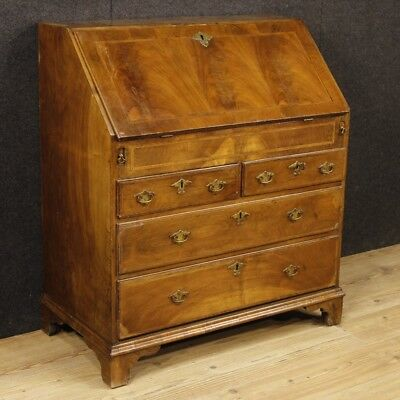 Bureau English antique furniture secrétaire desk dresser style wood sideboard