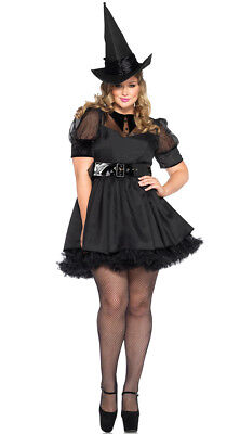 Womens Plus Size Bewitching Witch Costume, Plus Size Witch Costume