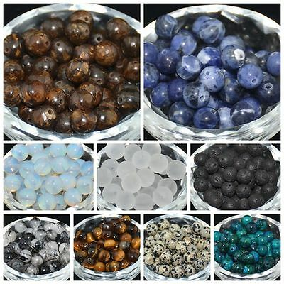 40pcs Lot Natural Stone Gemstone Round Spacer Loose Beads 4MM 6MM 8MM 10MM