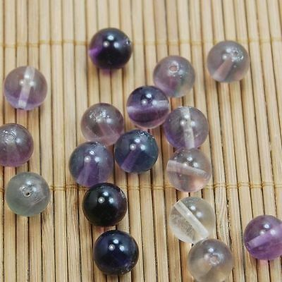 4/6/8/10mm Multicolor Fluorite Natural Gemstone Round Spacer Loose Beads Smooth