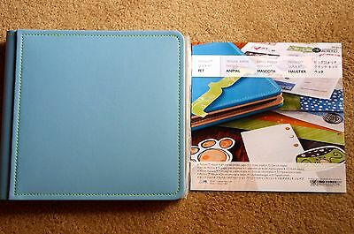 Creative Memories 8x8 Pet Blue Picfolio Album Quick Kit BNIP