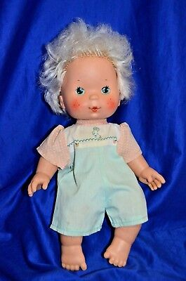 """Vintage Strawberry Shortcake Baby """"Apricot"""" Doll Blows Kisses - Kenner -"""
