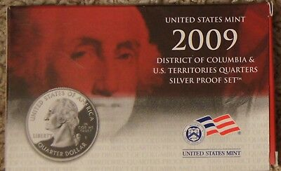 "2009 District Of Columbia &  Us Territories ""silver"" Quarters Proof Set"