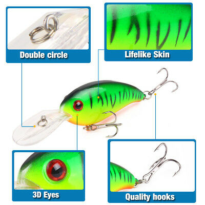 Hot 10CM Wobblers Bass Spinner Bait Artificial Fishing Lures Fishing Tackle