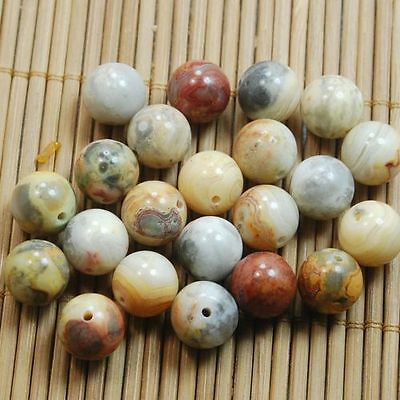 40PCS Natural Gemstone Lace Agate  Beads DIY 4/6/8/10mm Wholesale Lots Findings