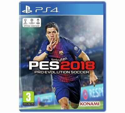 PES 2018 PS4 Pro Evo Soccer Game for Sony PlayStation 4 BRAND NEW Evolution