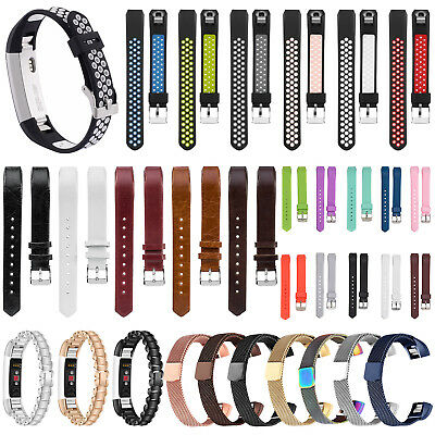 Silicone Leather Replacement Wrist Band Strap For Fitbit Alta & HR Tracker Watch