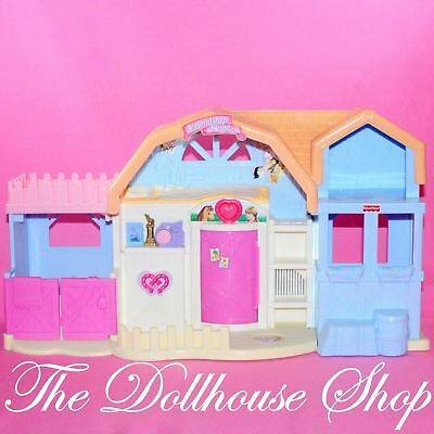 FISHER PRICE FRIENDSHIP Ponies Expressions Loving Family Dollhouse ...