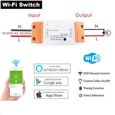 Hot App Control Alexa Phone Remote Control Wifi Switch Smart Switch Timer Relay