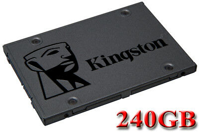 "Kingston A400 240GB 240G SSD Solid State Drive 2.5"" SATA III 3 6Gb/s 500MB/s"