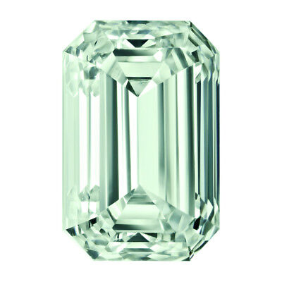 5.50 Ct 11.85 X10.25 mm VVS1 Green Emerald Cut Loose Moissanite For Jewelry