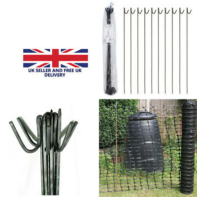 1.25m METAL STEEL FENCING PINS ROAD PINS STAKES POSTS x 30 for Temporary Fencing