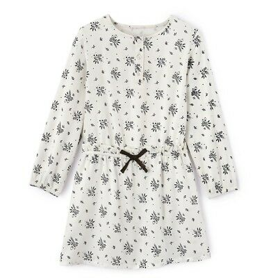 LA REDOUTE GIRLS FLORAL PRINT DRESS IVORY AGE 8 YEARS NEW (ref 380)