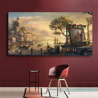 45x80cm Vintage Unframed Impressionism Oil Painting Wall Decor Landscape Canvas