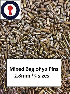 lock pins x 50 for repinning Rim, Euro and Oval Cylinders 1st P&P