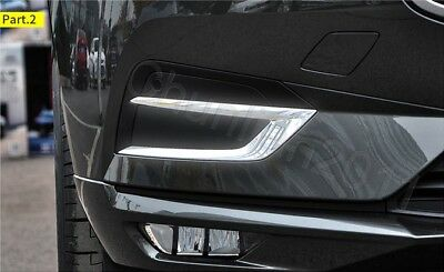 Fit For VolVo XC60 2018 Chrome Front Upper Fog Light Cover Trims ABS