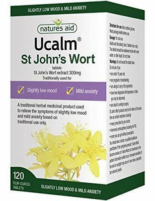 Natures Aid Ucalm 300Mg (St Johns Wort) Tabs [120s] (4 Pack)