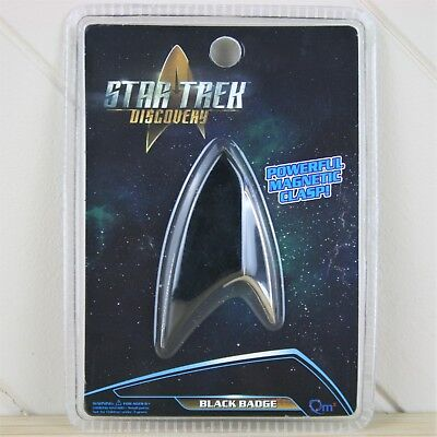 Official Star Trek Discovery BLACK BADGE 1:1 Division Badge Magnetic Replica