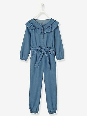 VERTBAUDET GIRLS JUMPSUIT WITH FRILLS AGE 12 YEARS NEW (ref 538)
