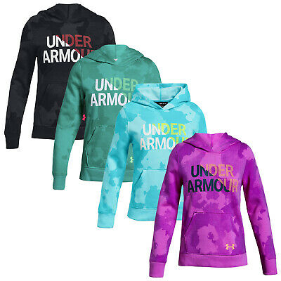 Under Armour Junior Girls Rival Hoodie - New UA Kids Cotton Pullover Sweater